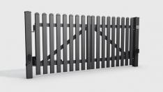 brama aluminiowa dwuskrzydłowa